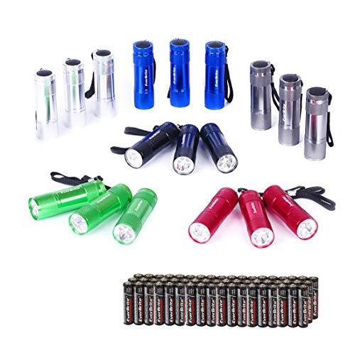 EverBrite 18tlg. Mini LED Taschenlampe Set mit Umhängeband und Batterien, ideal für Geschenk,...