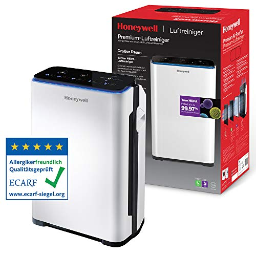 Honeywell Premium-Luftreiniger (True HEPA, Allergie, Luftqualitätssensor, CADR 204 m3/h, 4-stufige...
