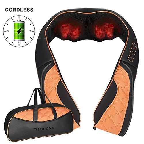 Kabellos Nackenmassagegerät Shiatsu Massagegerät für Nacken Schulter Rücken, 3D-Rotation Massage...