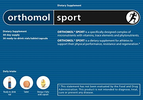 Orthomol Sport Trinkfläschchen, 30 Trinkampullen - Zellschutz, Vitamine & Mineralstoffe in Ampullen...