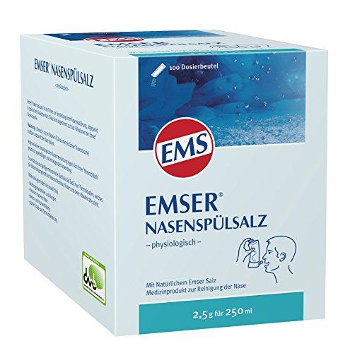 Emser Nasenspülsalz physiologisch – Nasendusche bei Erkältung, Allergie und zur Nasenpflege –...