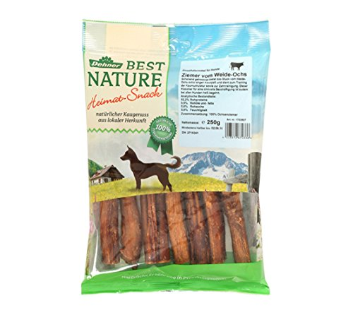 Dehner Best Nature Hundesnack, Ochsenziemer, 250 g