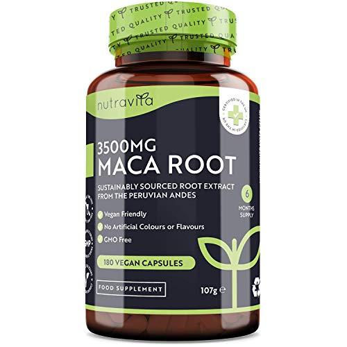 Maca Kapseln hochdosiert 3500 mg - 180 vegane Kapseln mit pulver aus der Maca Wurzel bio -...