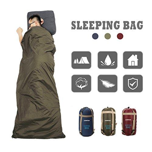 CAMTOA® ultraleicht, klein, warm Schlafsack Hüttenschlafsack, Outdoor Wasserdicht Camping Sleeping...