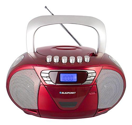Blaupunkt Boombox 11 PLL RD, tragbares Kinder CD-Radio, Hörbuch Funktion, Kassettenrekorder...