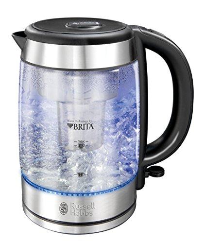 Russell Hobbs 20760-70 Clarity Glas-Wasserkocher, integrierter Brita Wasserfilter, hochwertiges...