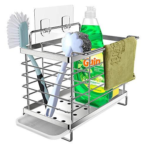 Orimade Spülbecken Organizer Utensilien Korb für küchen & Badezimmer mit Abflusspfanne, Klebstoff...