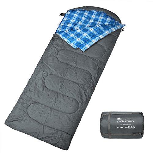 MOUNTAINTOP Schlafsack, Ultraleicht mit kleinstem Packmaß Reiseschlafsack Sommerschlafsack leicht...