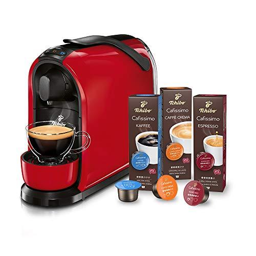 Tchibo Cafissimo Pure Kapselmaschine (für Kaffee, Espresso, Caffé Crema und Tee) (inkl. 30...