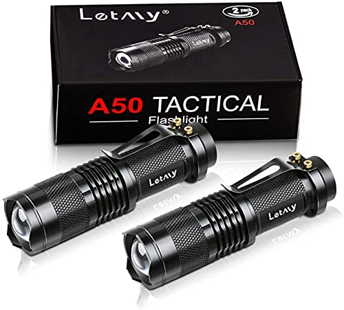 Mini LED Taschenlampe, PUAIDA Superhelle Zoombar LED Taschenlampen mit 3 Modi, Wasserdichte...