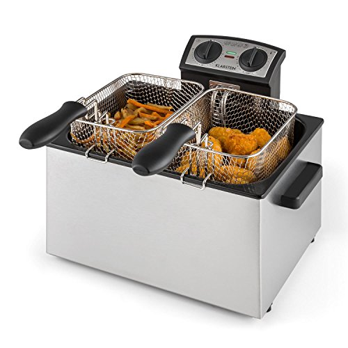 Klarstein QuickPro XXL 3000 - Fritteuse, 3000 Watt, 5 Liter Volumen, bis zu 1,5 kg Frittiergut, bis...