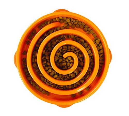 Outward Hound Fun Feeder Slo Bowl - Anti-Schling-Napf - groß/normal, L, orange