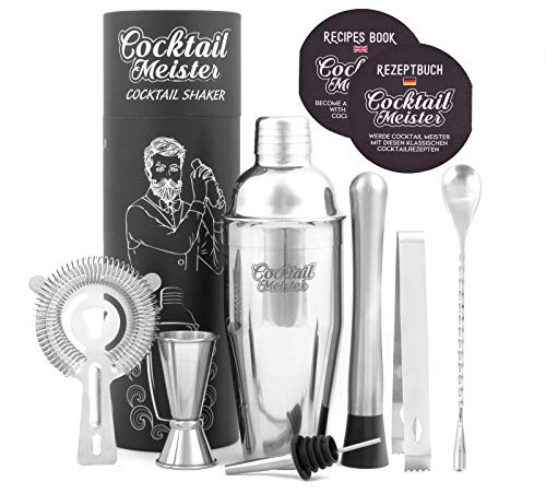 CocktailMeister Premium Cocktail Shaker Set, Professional Cocktail Mixing Set, Cocktail Set Ideal...