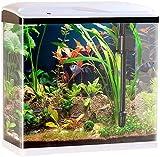 Sweetypet Aquarium Komplettset: Nano-Aquarium-Komplett-Set mit LED-Beleuchtung, Pumpe & Filter, 40 l...