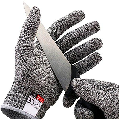 Amgaze Schnittschutzhandschuhe - Schnittschutzklasse Level 5 für Küche/Baustelle /...