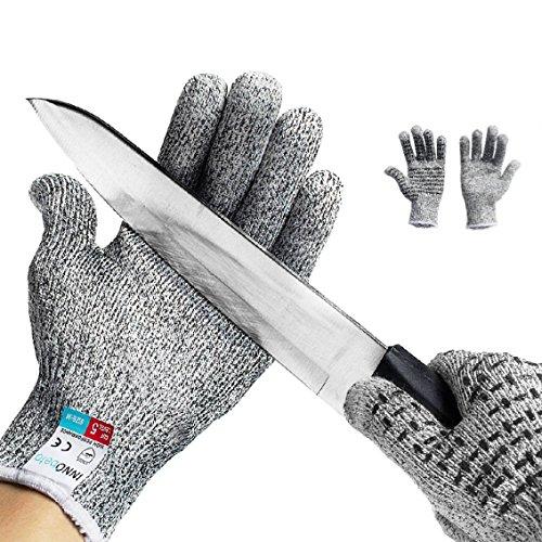 Schnittschutzhandschuhe Arbeitshandschuhe lebensmittelecht schnittfeste Touchscreen Anti-Rutsch...