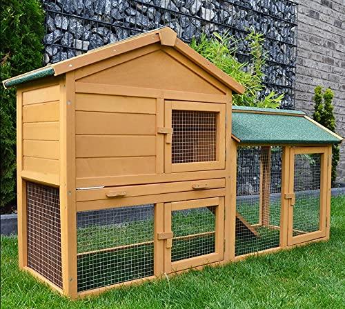 """ZooPrimus Kleintier-Stall Nr 01 Kaninchen-Käfig """"HASENVILLA"""" Meerschweinchen-Haus für..."""