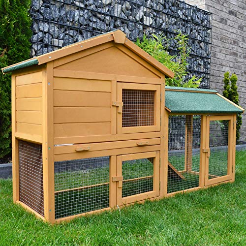 Zooprimus zooprinz Kaninchenstall 01 Hasenkäfig - HASENVILLA - Stall für Außenbereich (für...