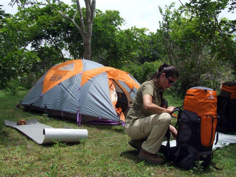 Hüttenschlafsack beim Campen