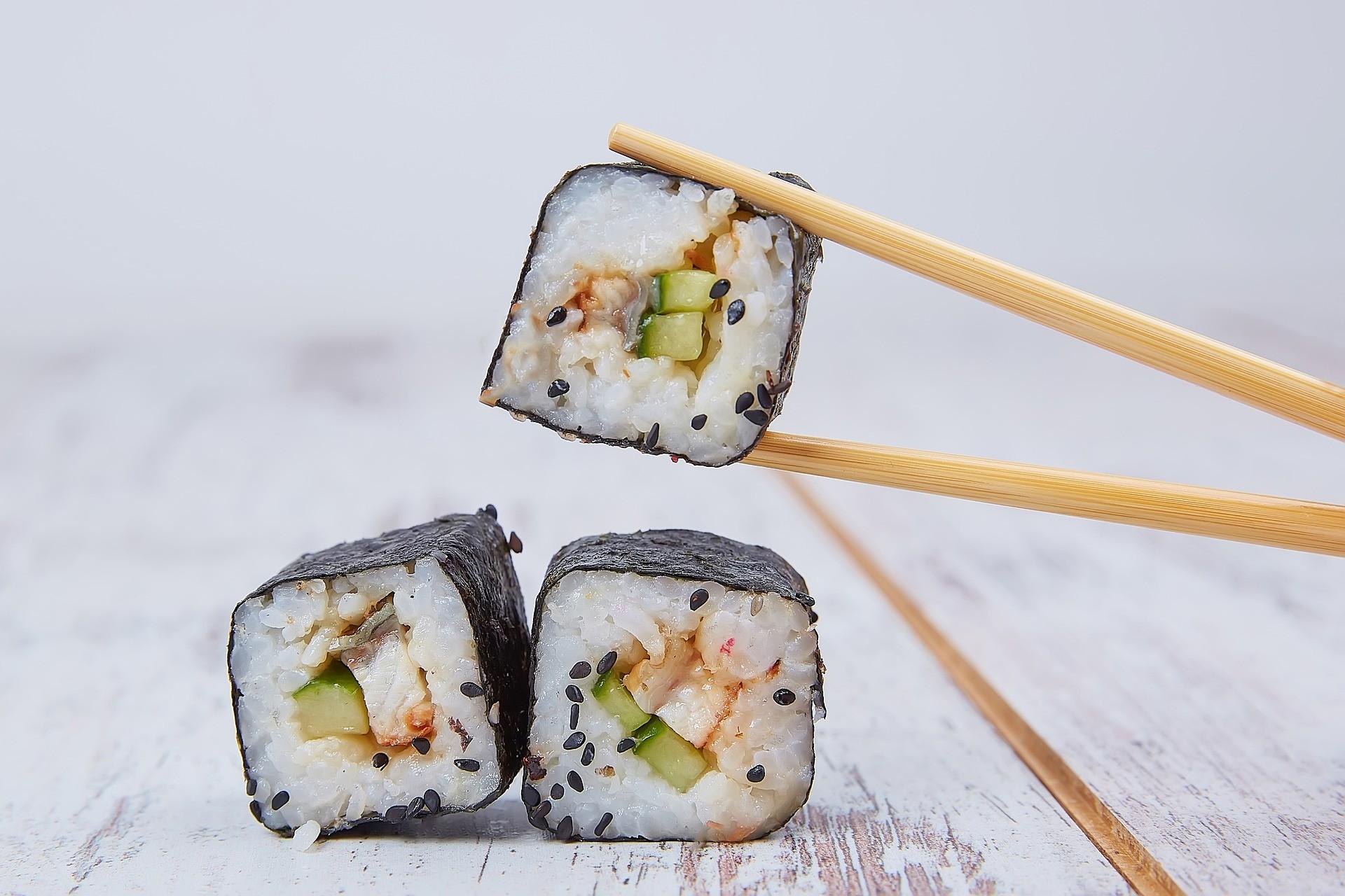 japanische Essstäbchen für Sushi