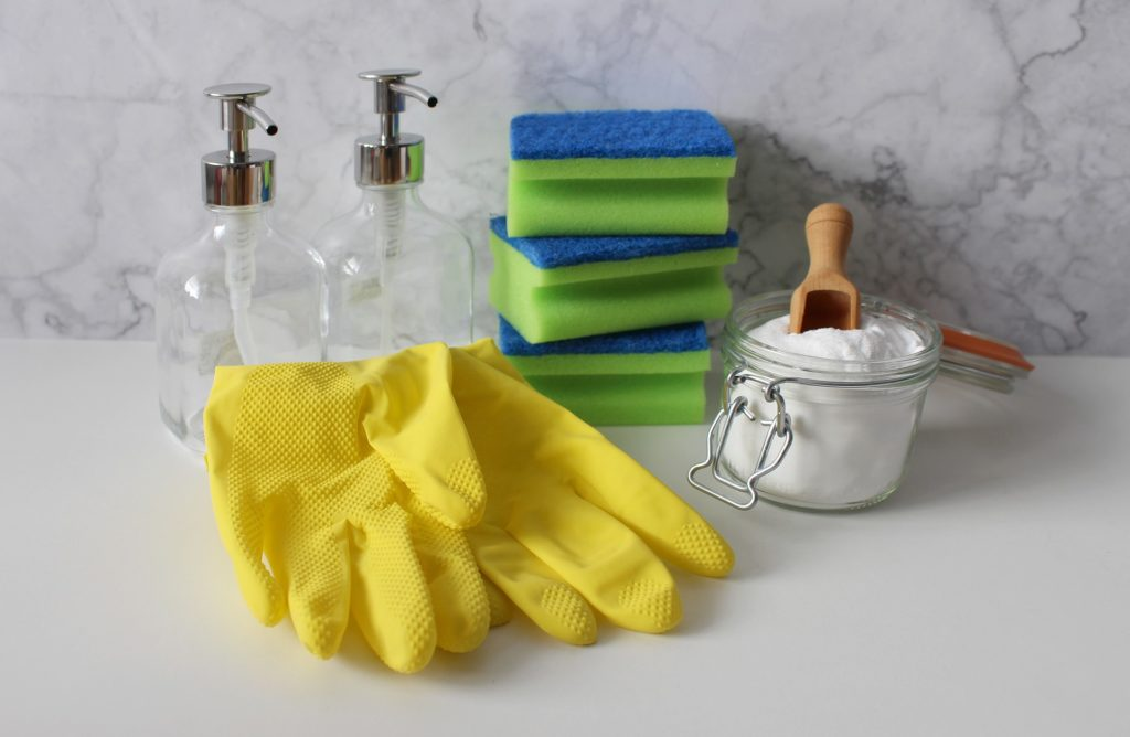 Spuelschwamm Sauber machen Bad Kueche