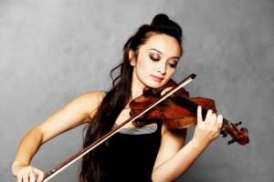 Geige spielen Haltung