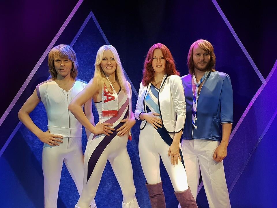 Popmusik Abba - Wachsfiguren