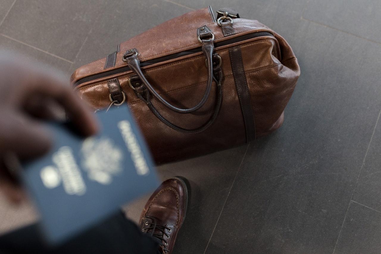 Leder Aktentasche reisen