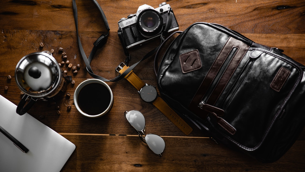 Ein vintage Lederrucksack wirkt sehr stilvoll