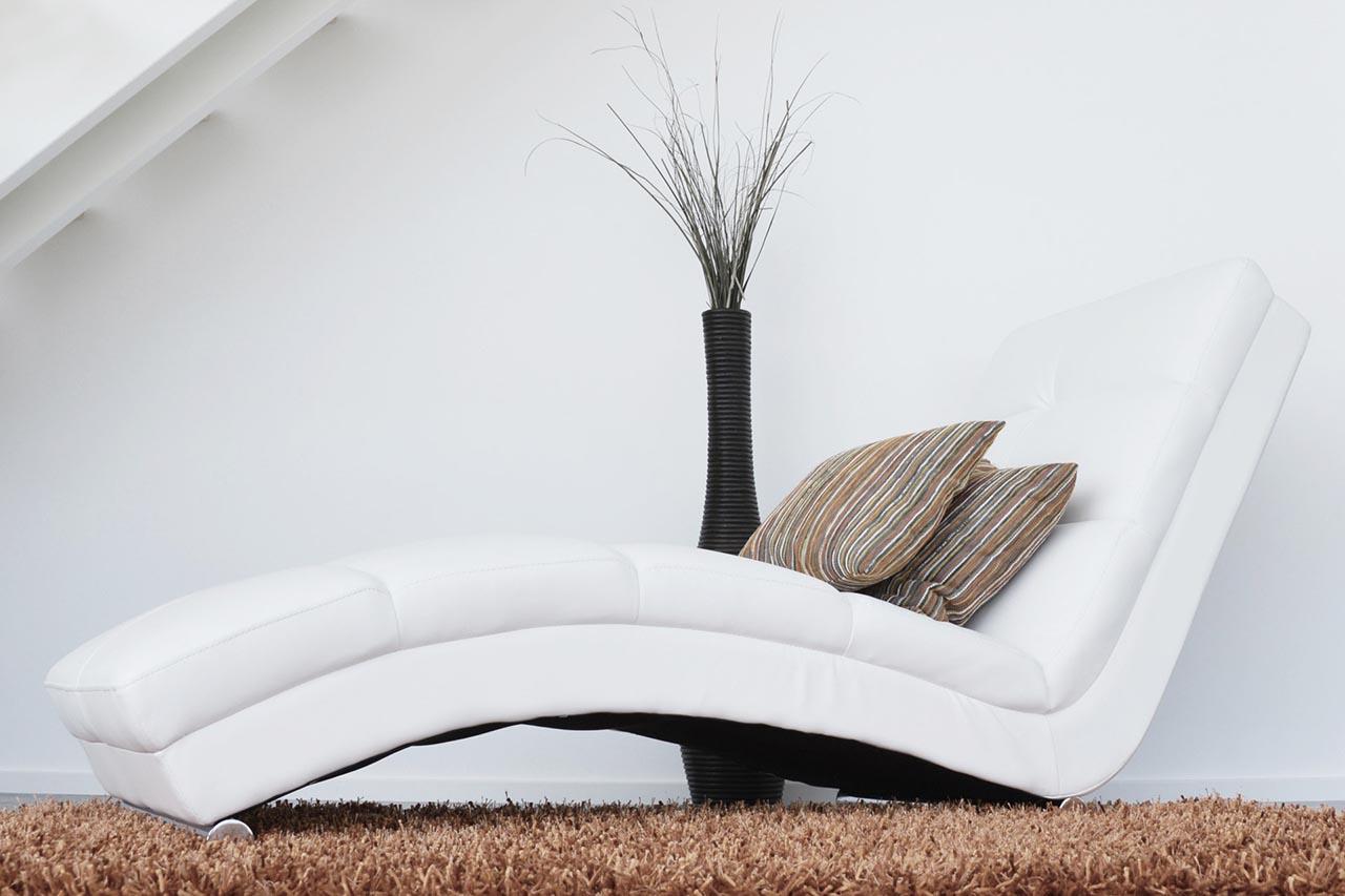Weißer Leder Relaxsessel