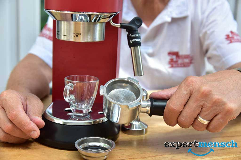 Test Espressomaschine von De´Longhi