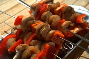 Grillpfanne Grillspiess zubereiten