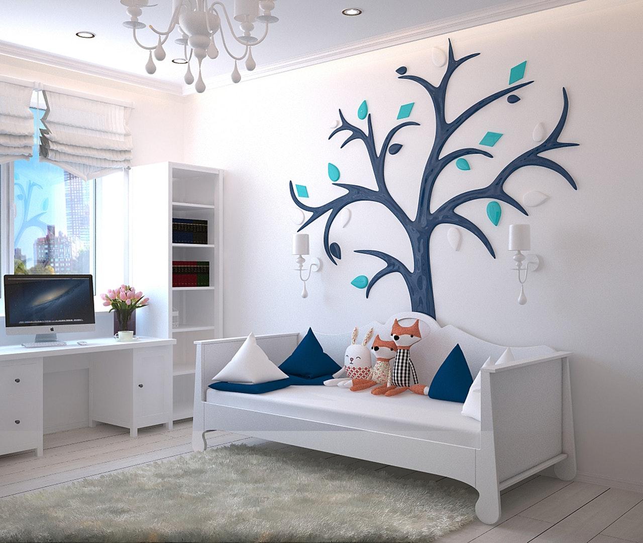 Tagesbetten kommen gerne auch in Kinder- & Jugendzimmer zum Einsatz.