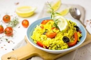 Granit-Pfanne Paella und andere Gerichte lecker zubereiten