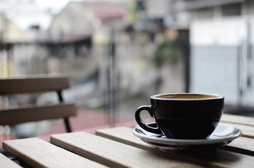 italienische Espressomaschine Kaffee kochen