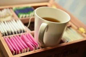 Teebox Damit der Tee sortiert aufbewahrt wird