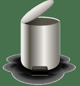 Eine gute Alternative zu einem Mülleimer mit automatischem Deckel, sind solche Modelle, welche sich mit dem Fuß öffnen lassen. Auch hier muss man den Mülleimer nicht anfassen.