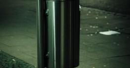 Mülleimer mit automatischem Deckel Test