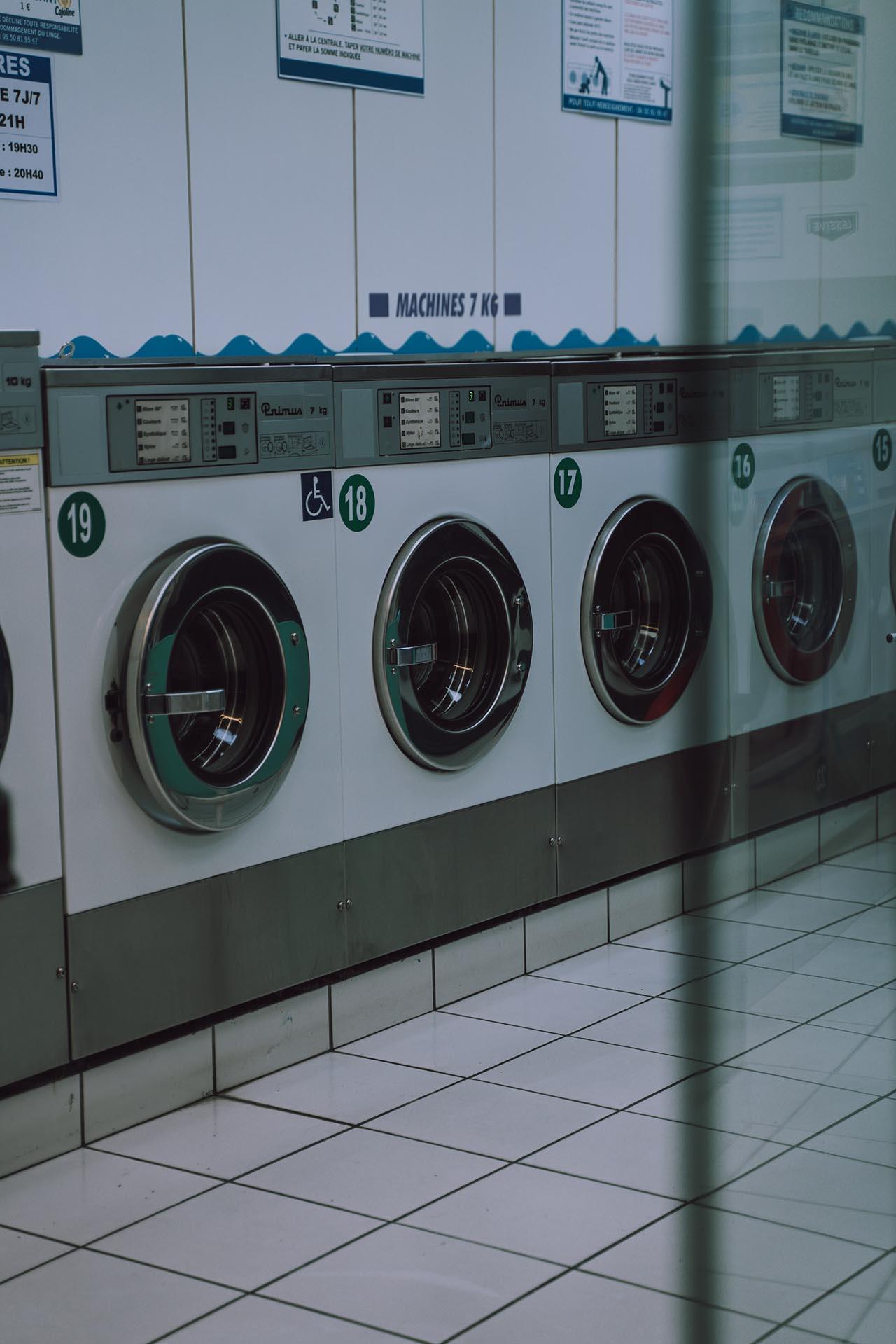 Auch viele Waschsalons sind mit 7 kg Waschmaschinen ausgestattet.