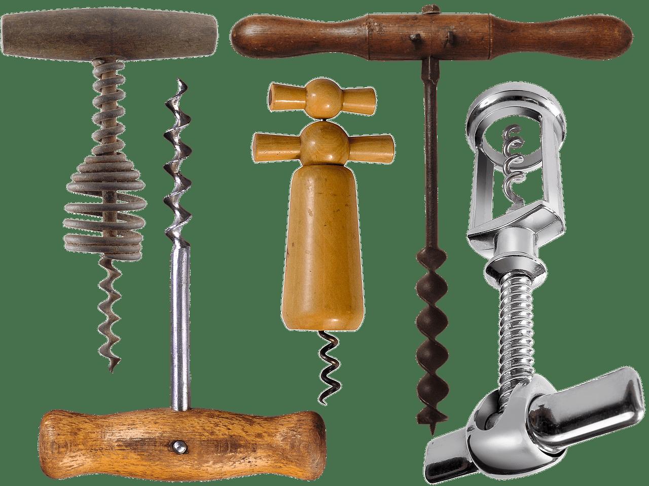 Neben Glockenkorkenziehern gibt es auch viele andere Modelle.