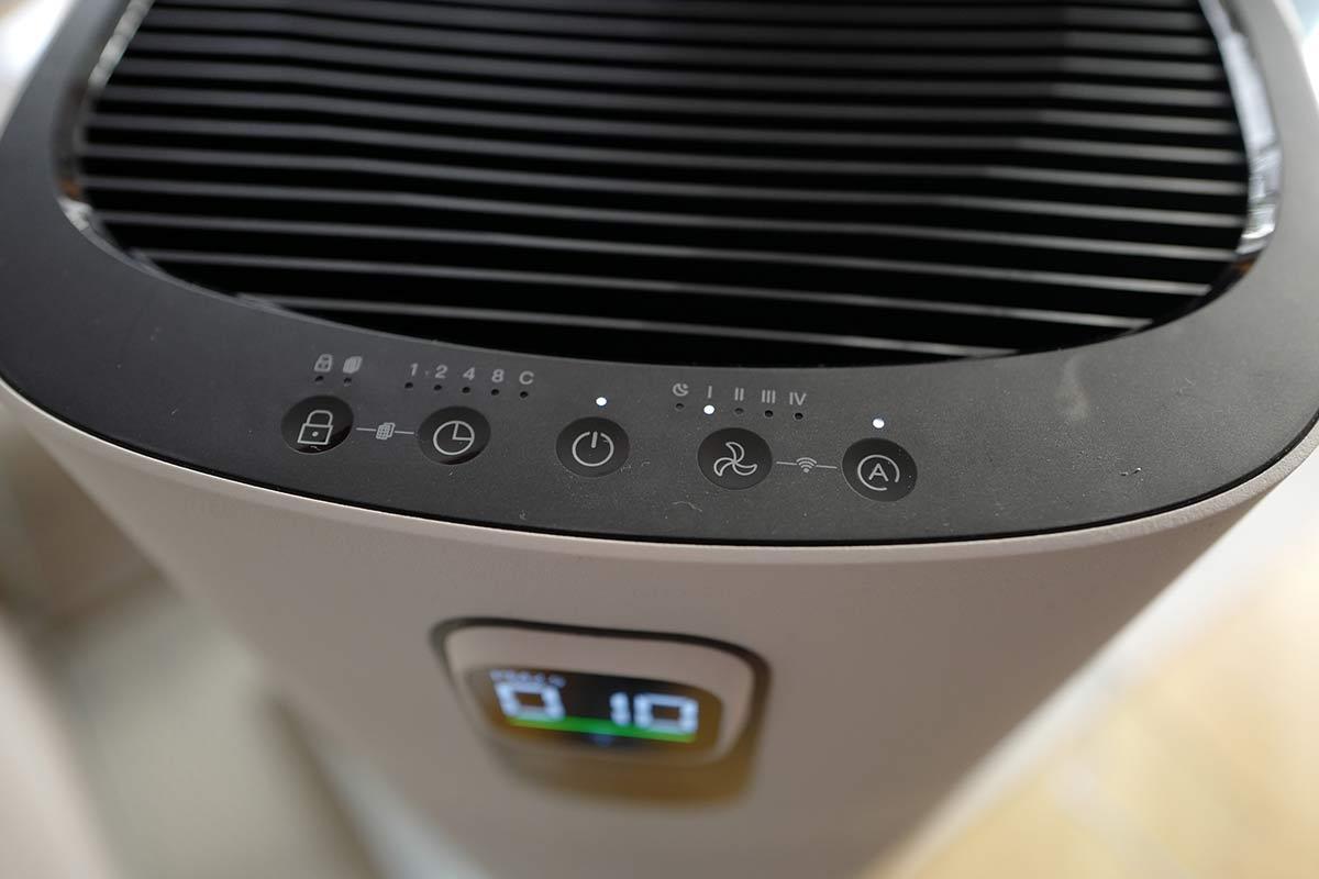 Einstellungen des Prosenic Luftreiniger A9